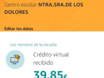 ¡¡SEGUIMOS SUBIENDO EN LAS DONACIONES DE AMAZON EN UN CLIC PARA EL COLE!!